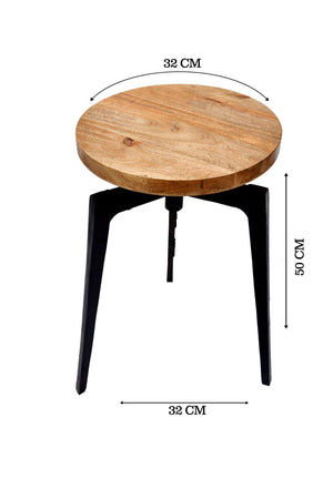 Wooden Bar Stool With Tri Stand
