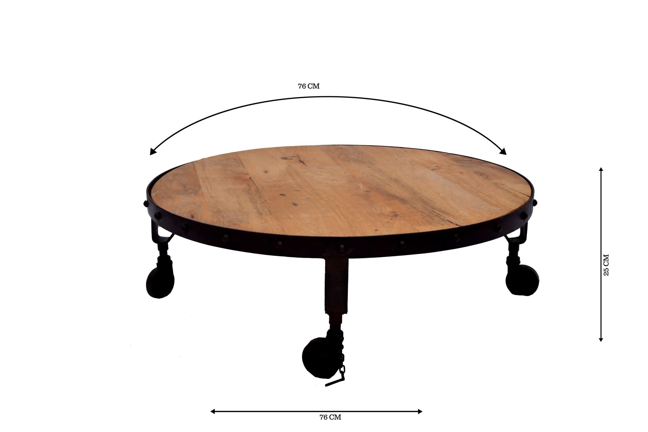 Wondrous Metal And Wood Round Coffee Table With Wheels Avyan Download Free Architecture Designs Scobabritishbridgeorg