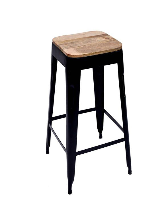 Marvelous Bar Stool Black Wooden Seat Set Of 4 Gmtry Best Dining Table And Chair Ideas Images Gmtryco