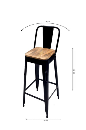 Brilliant Bar Chair Black Wooden Seat Set Of 2 Avyan Pabps2019 Chair Design Images Pabps2019Com