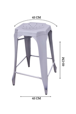 Bar Stool White Set of 4