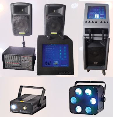 Jukebox/Karaoke, Lighting & Other Music Hire Equipment