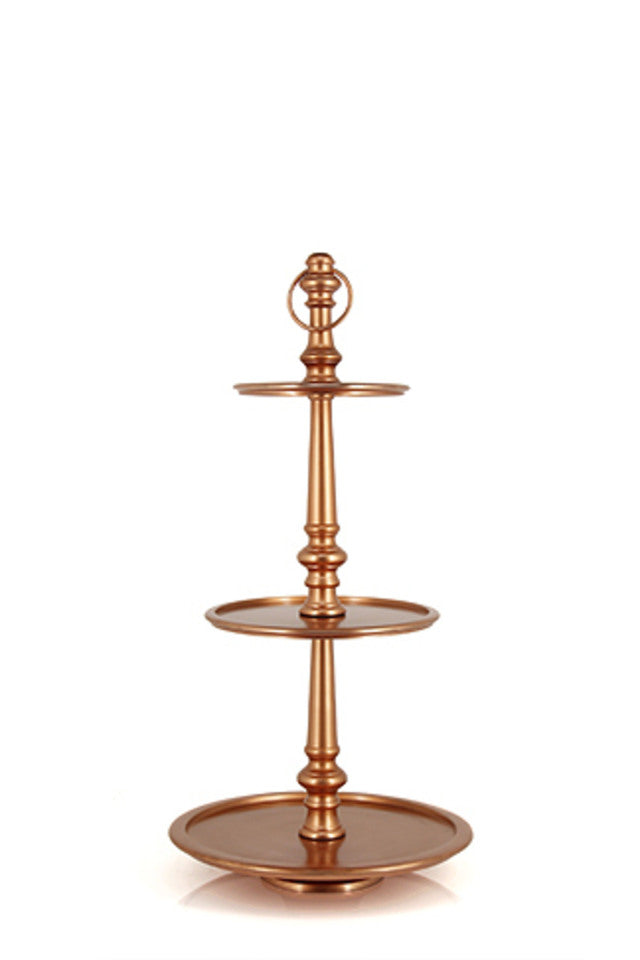 3 Tier Cake Stand – Copper