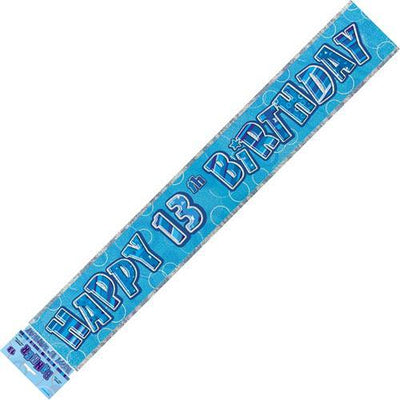 BANNER - 13TH BIRTHDAY BLUE