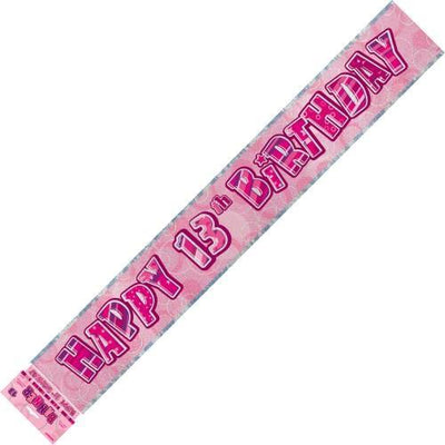 BANNER - 13TH BIRTHDAY PINK