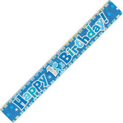 BANNER - 1ST BIRTHDAY BLUE