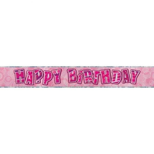 BANNER - HAPPY BIRTHDAY PINK