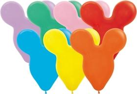 BEAR HEAD SMALL LATEX BALLOON 28CM - ASSORTED PK 50