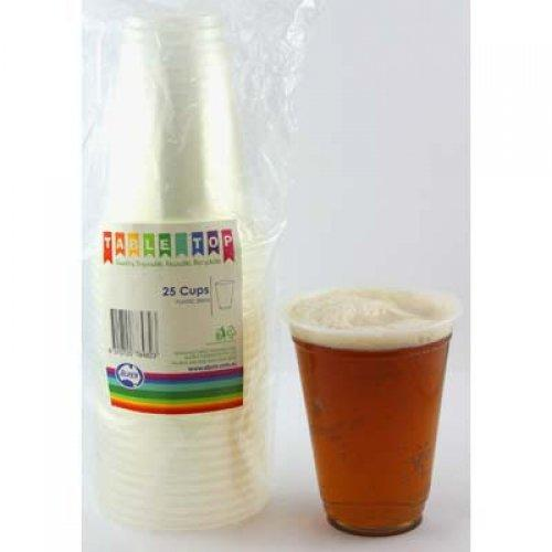 BEER CUPS 285ML - CLEAR PK25