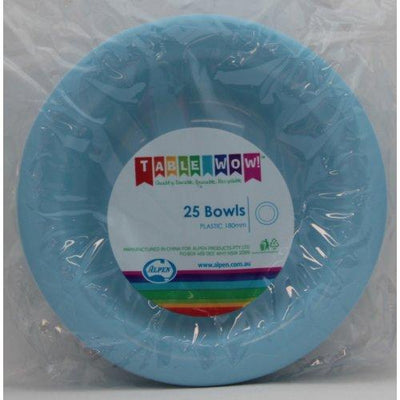 BOWL 180MM - LIGHT BLUE PK25