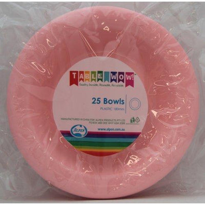 BOWL 180MM - LIGHT PINK PK25