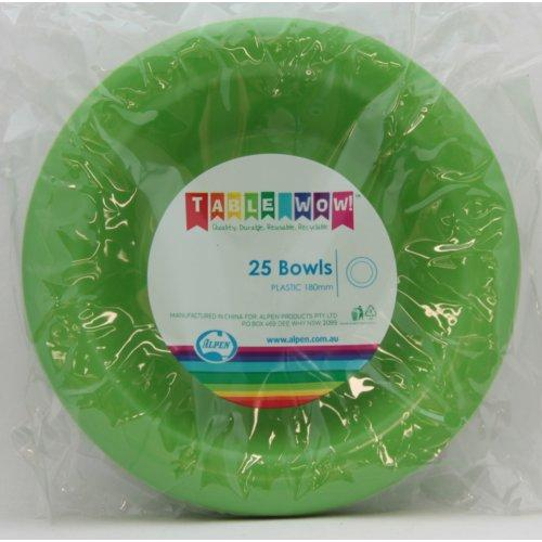 BOWL 180MM - LIME PK25
