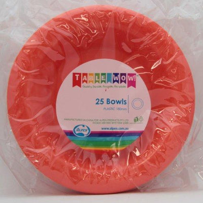 BOWL 180MM - ORANGE PK25