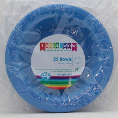 BOWL 180MM - ROYAL BLUE PK25
