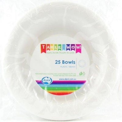 BOWL 180MM - WHITE PK25