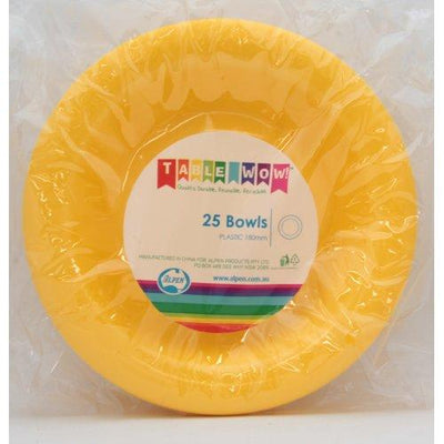 BOWL 180MM - YELLOW PK25