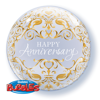 BUBBLE BALLOON 55CM - ANNIVERSARY CLASSIC