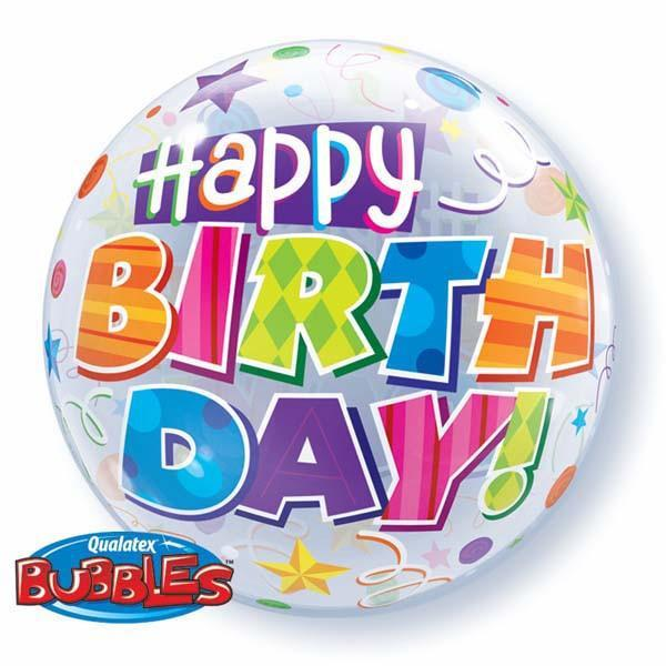 BUBBLE BALLOON 55CM - BIRTHDAY PARTY PATTERNS
