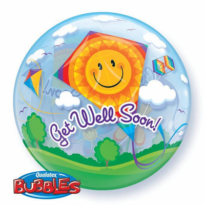 BUBBLE BALLOON 55CM - GET WELL SOON! KITES