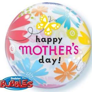 BUBBLE BALLOON 55CM - HAPPY MOTHERS DAY BUTTERFLY FLORAL
