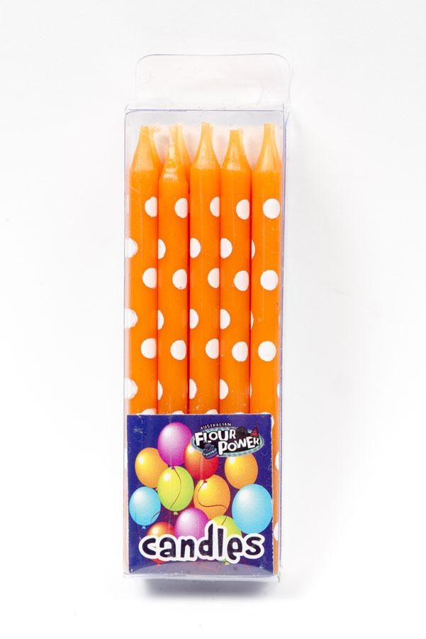 CANDLE POLKADOT ORANGE
