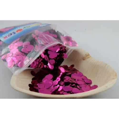 CONFETTI - METALLIC HOT PINK 250G 1CM