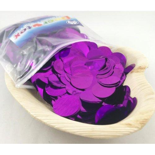 CONFETTI - METALLIC PURPLE 250G 2.3CM