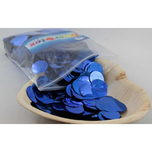 CONFETTI - METALLIC ROYAL BLUE 250G 2.3CM