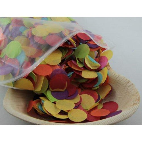 CONFETTI - TISSUE BRIGHT ASSORTED 250G 2.3CM
