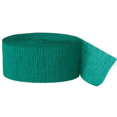 CREPE STREAMERS 30M EMERALD GREEN