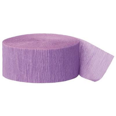 CREPE STREAMERS 30M LILAC