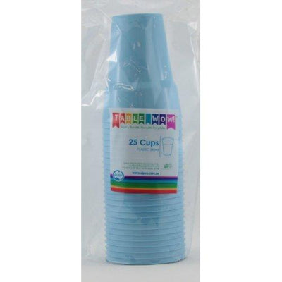 CUPS 285ML - LIGHT BLUE PK25