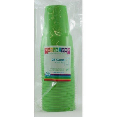 CUPS 285ML - LIME PK25