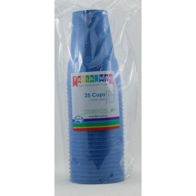 CUPS 285ML - ROYAL BLUE PK25