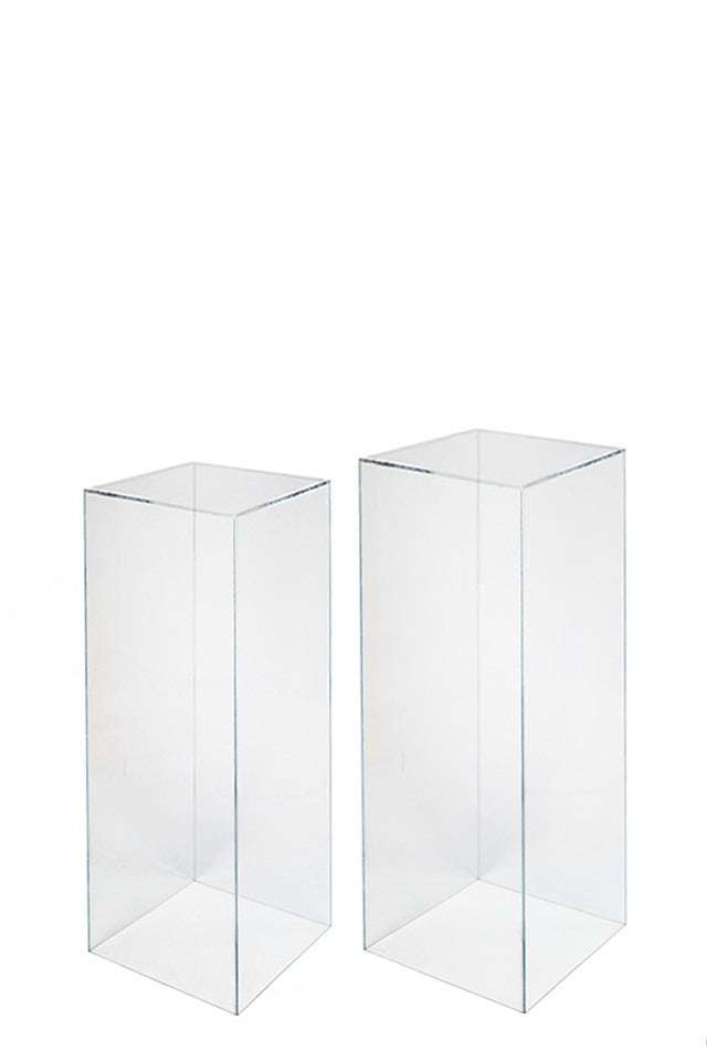 Clear Acrylic Plinth - Set of 2
