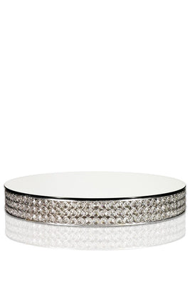 Crystal Cake Stand - Silver