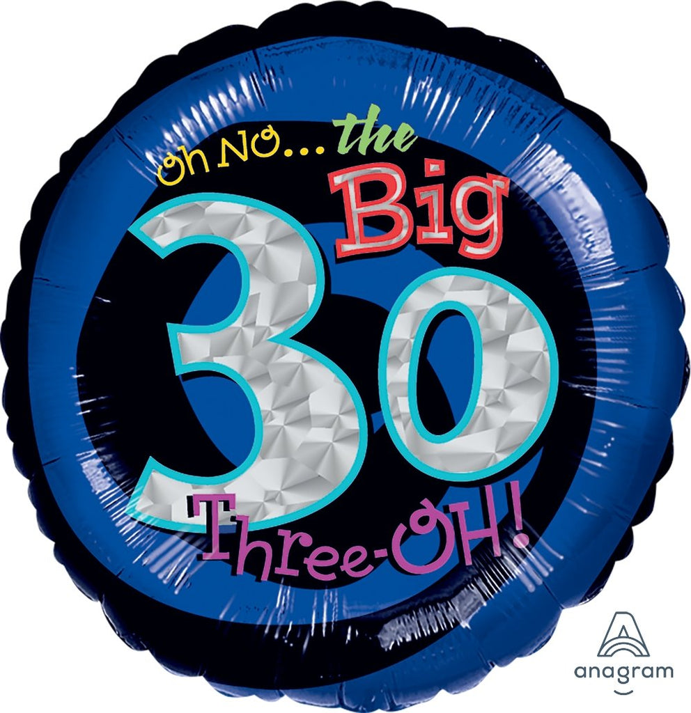 FOIL BALLOON 45CM - 30TH BIRTHDAY OH NO IT'S MY BIRTHDAY