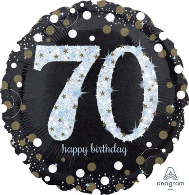 FOIL BALLOON 45CM - 70TH BIRTHDAY SPARKLING