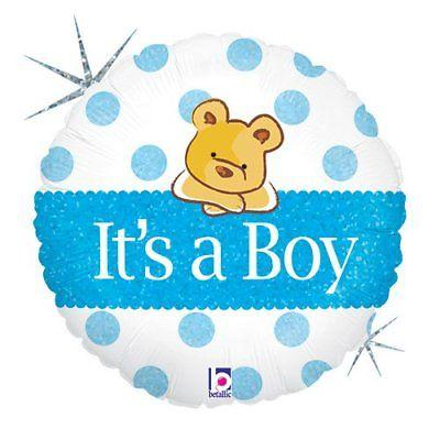FOIL BALLOON 45CM - BABY BOY BEAR