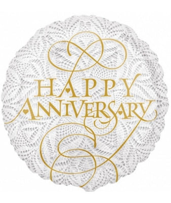 FOIL BALLOON 45CM - LACEY HAPPY ANNIVERSARY