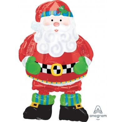 FOIL BALLOON AIRWALKER 94CM TALL - WHIMSICAL SANTA