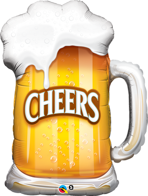 FOIL BALLOON HAPPY BIRTHDAY 89CM - CHEERS ! BEER MUG