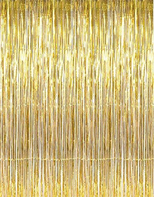 FOIL CURTAIN - METALLIC GOLD 2MX90CM
