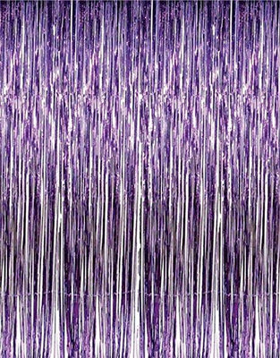FOIL CURTAIN - METALLIC PURPLE 2MX90CM