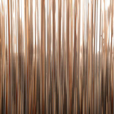 FOIL CURTAIN - METALLIC ROSE GOLD 2MX90CM