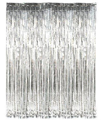 FOIL CURTAIN - METALLIC SILVER 2MX90CM