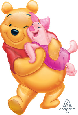 FOIL SUPERSHAPE BALLOON - BIG POOH HUG 81X51CM