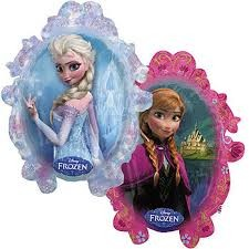 FOIL SUPERSHAPE BALLOON -  FROZEN ANNA & ELSA 78X63CM