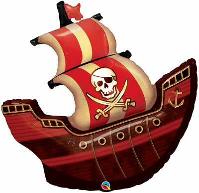 FOIL SUPERSHAPE BALLOON - PIRATE SHIP 101CM