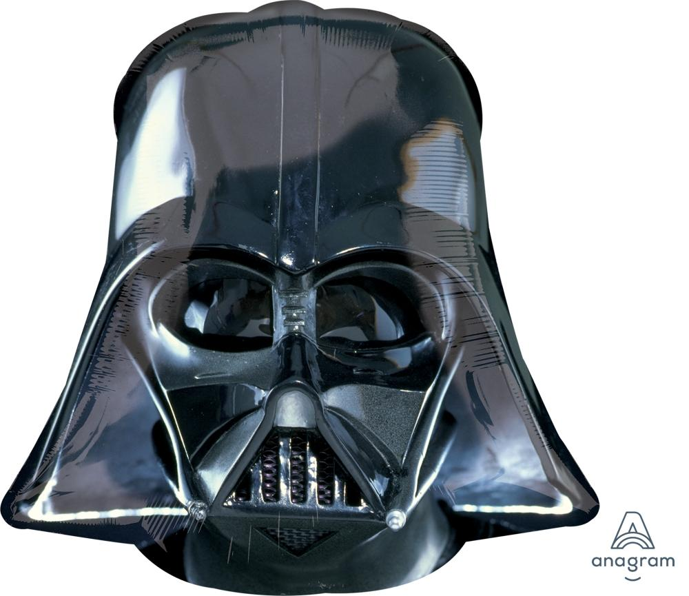 FOIL SUPERSHAPE BALLOON - STAR WARS DARTH VADER HELMET BLACK 63X63CM